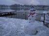 Lake snowman