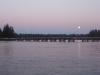 bridge, mtn, moon